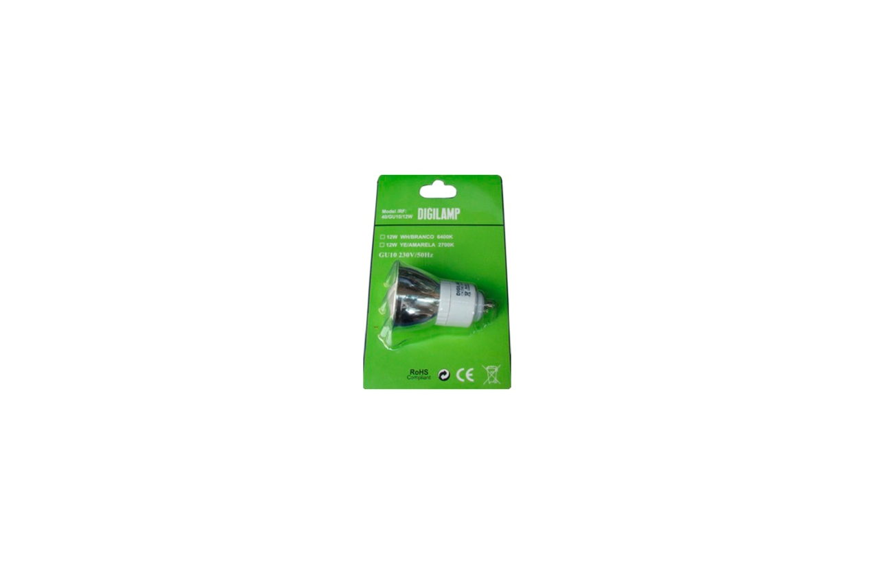 Lâmpada fluoresecente ECO GU10 12W