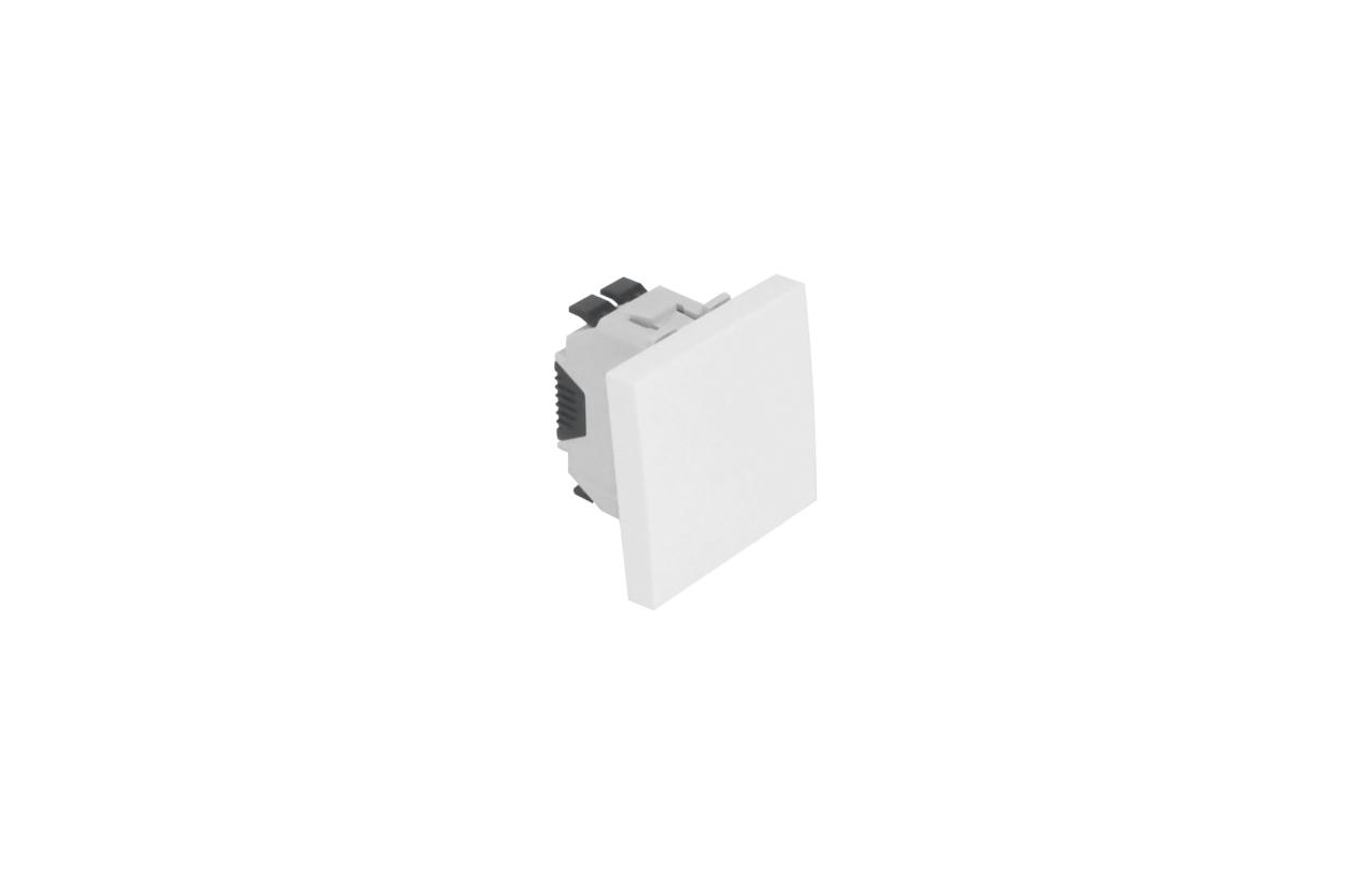Comutador de escada branco mate 2 módulos Quadro 45