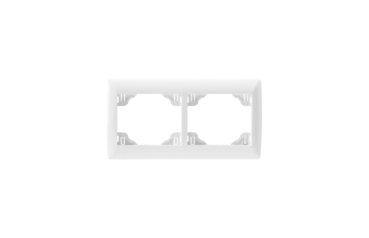 Espelho duplo horizontall branco Sirius70 70921