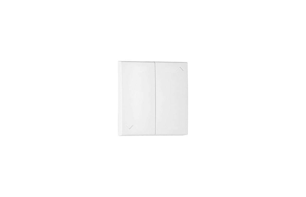 Teclas brancas Logus 90 para botão duplo de persianas 90612 T BR