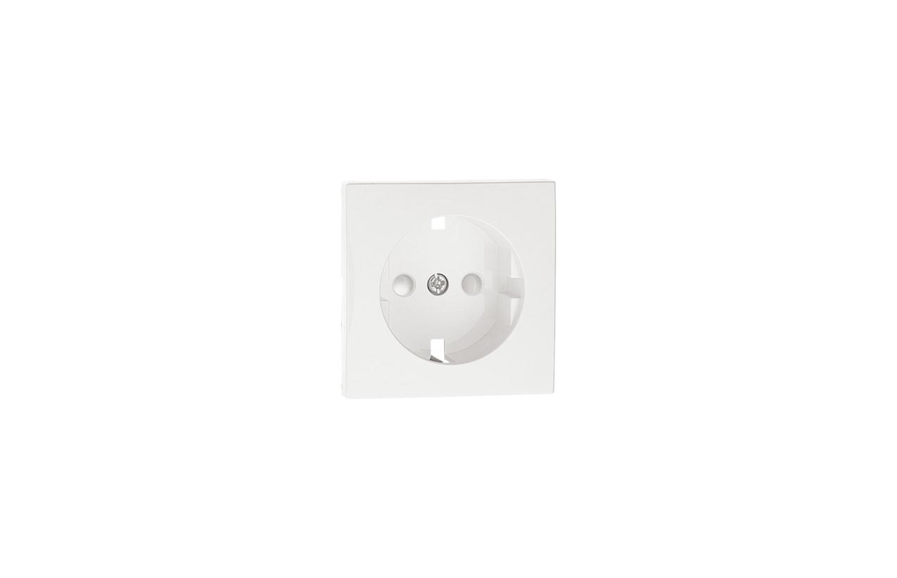 Centro branco com obturador Logus 90 para tomada 2P+T 90632 T BR