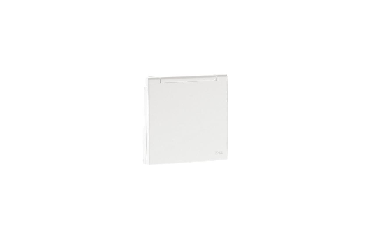 Centro schuko branco com tampa e obturador IP44 90634TBR