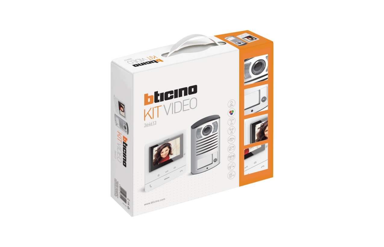 Kit vídeo unifamiliar Bticino Classe 100V16B 364613