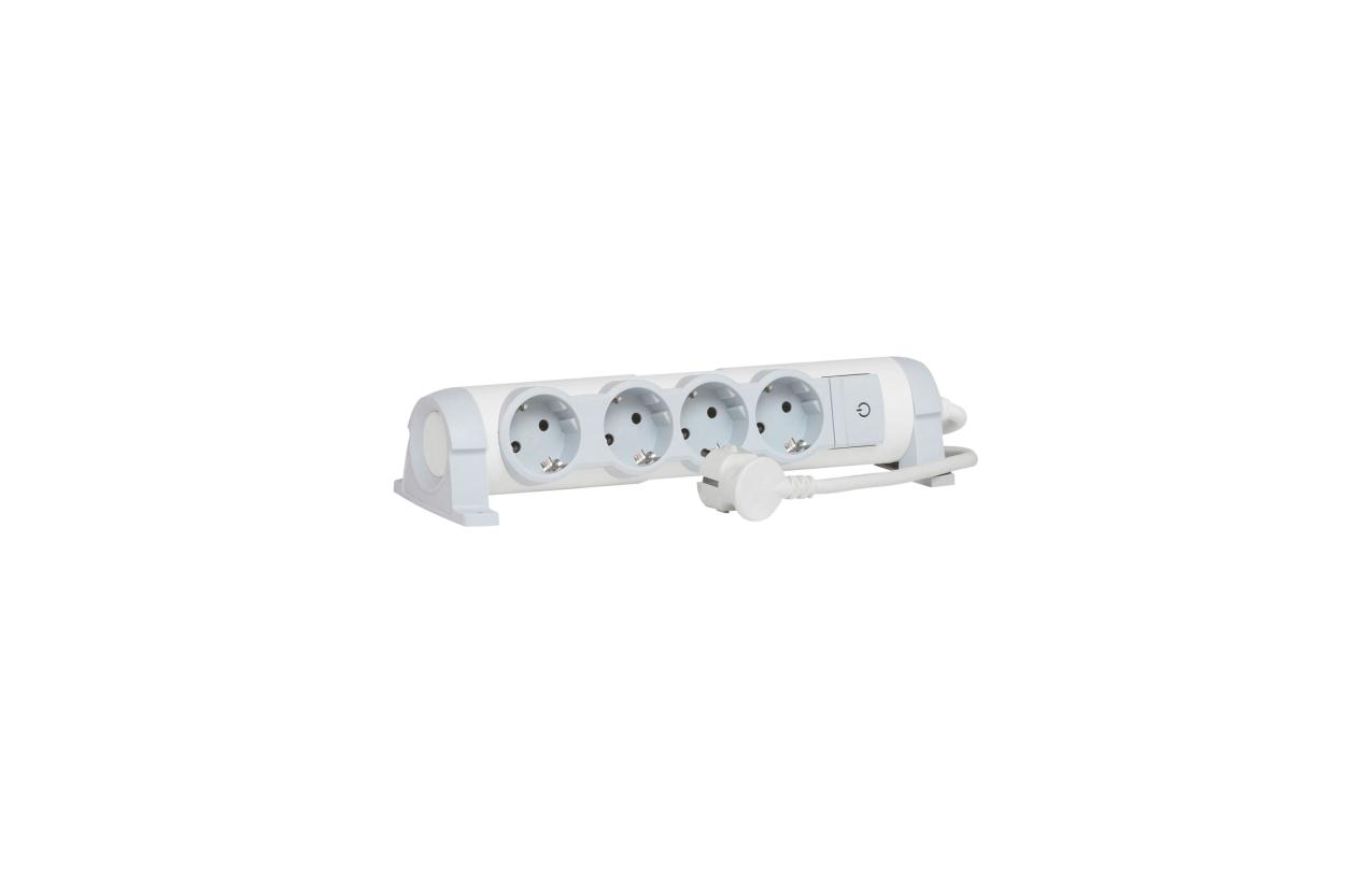 Bloco multitomadas 4x2P+T rotativo com interruptor e cabo 3m 694627