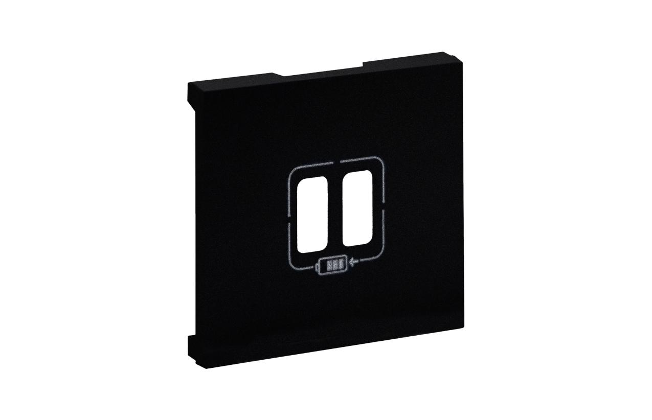 Centro preto para tomada dupla USB Niloé Step 864524