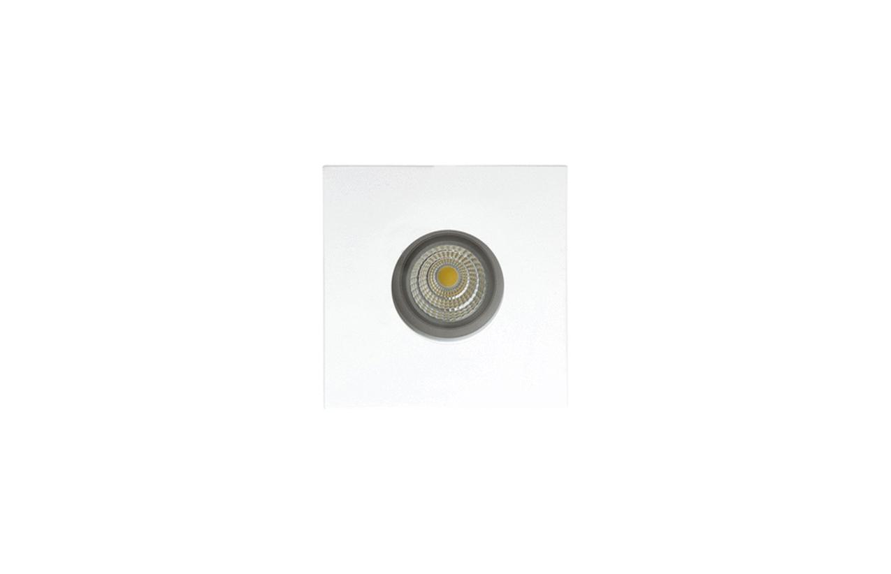 Projetor encastrar quadrado 50W IP54 branco 106D-90