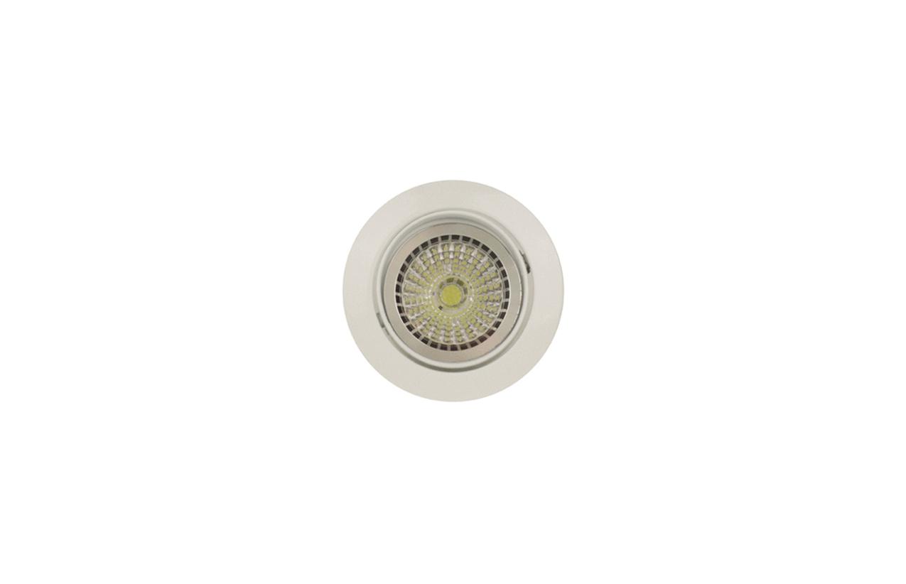 Projetor encastrar orientavel redondo 50W branco 634D-00