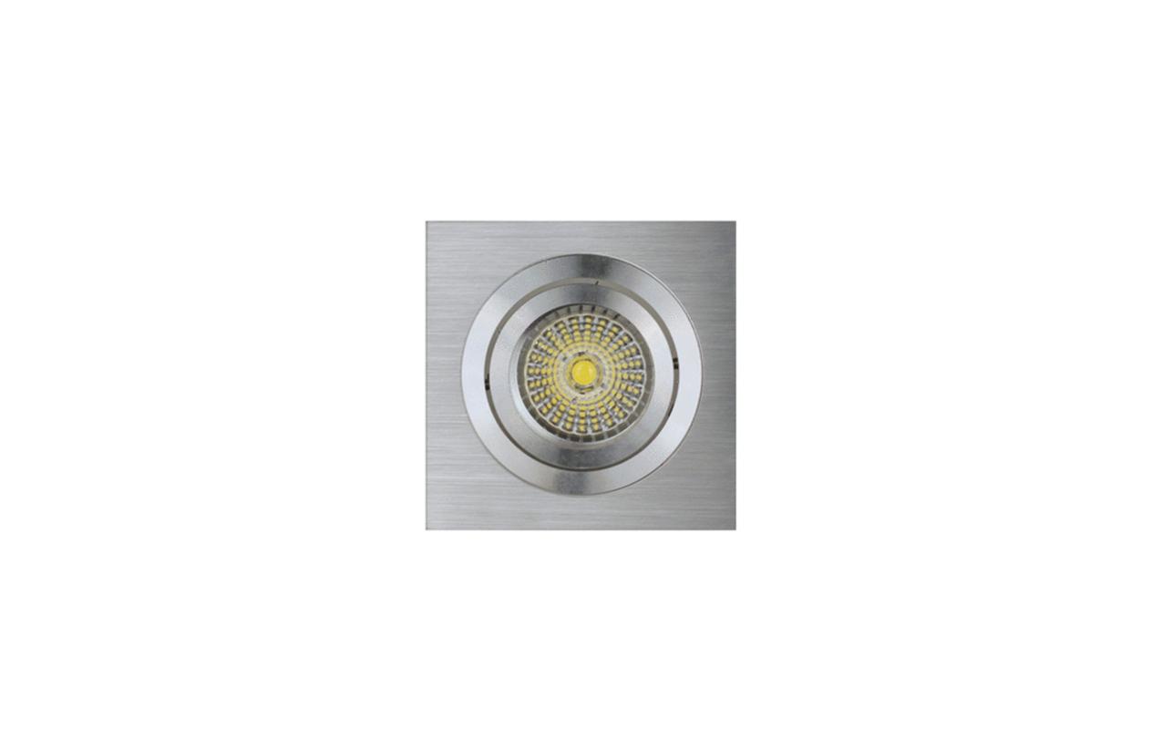 Projetor encastrar quadrado 50W inox 704D-05