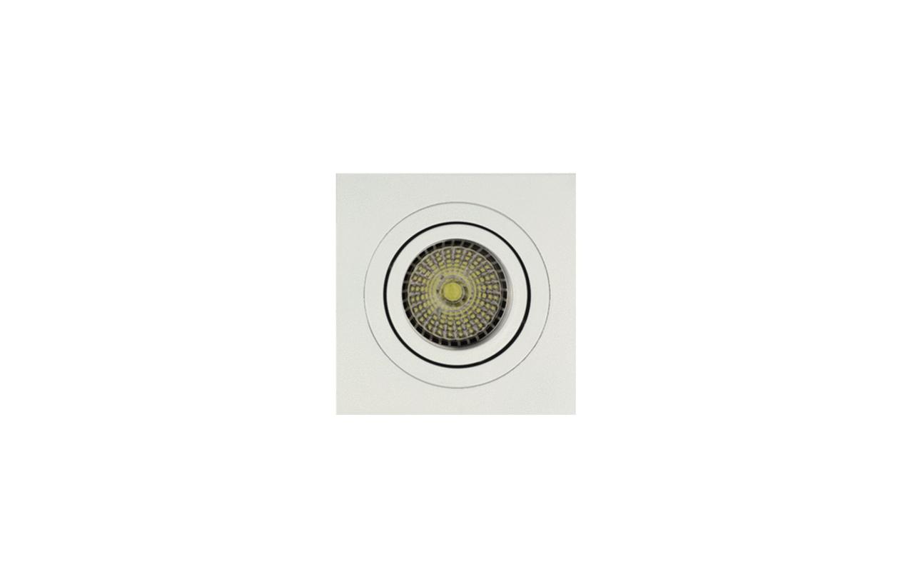 Projetor encastrar quadrado orientável branco 704D-90