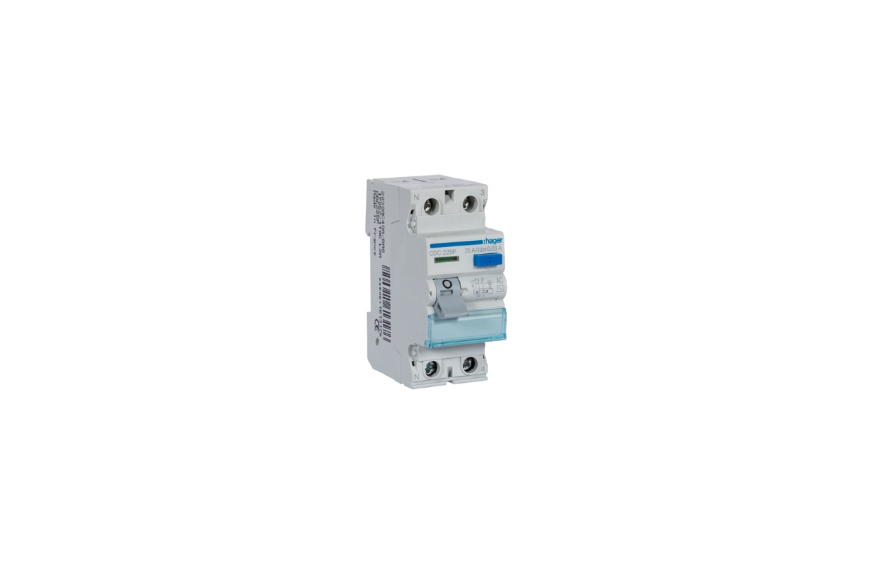 Interruptor diferencial 2P 25A 30mA tipo AC CDC225P