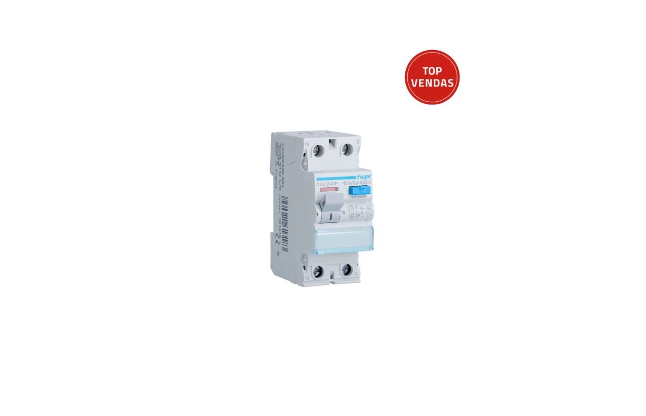 Interruptor diferencial 2P 40A 30MA CDC240P
