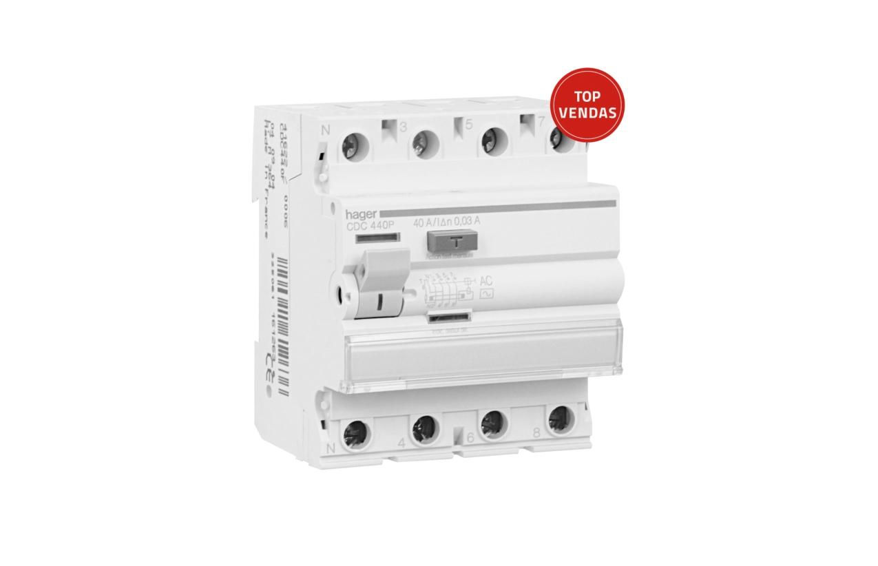 Interruptor diferencial 4P 40A 30MA CDC440P