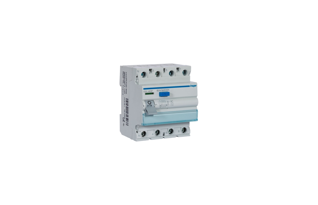 Interruptor diferencial 4P 63A 30mA tipo AC CDC463P