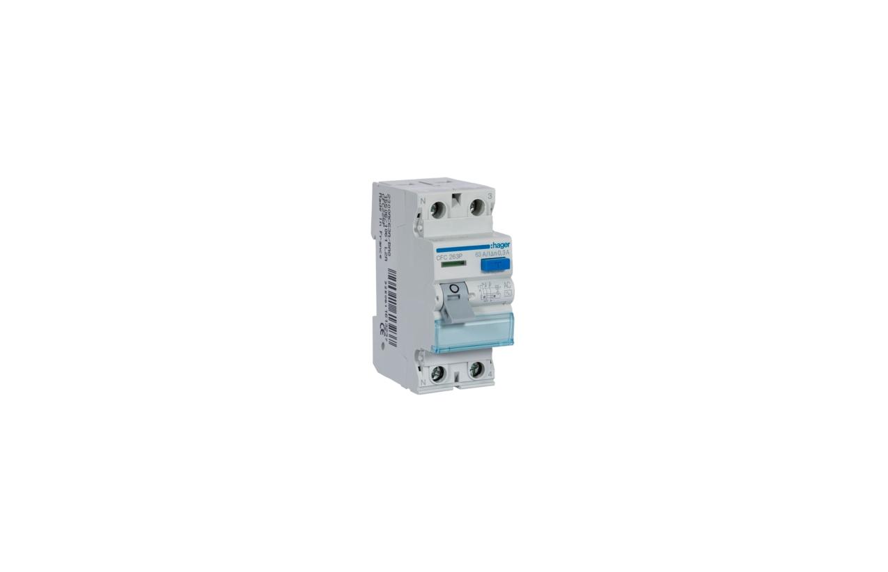 Interruptor diferencial 2P 63A 300mA tipo AC CFC263P
