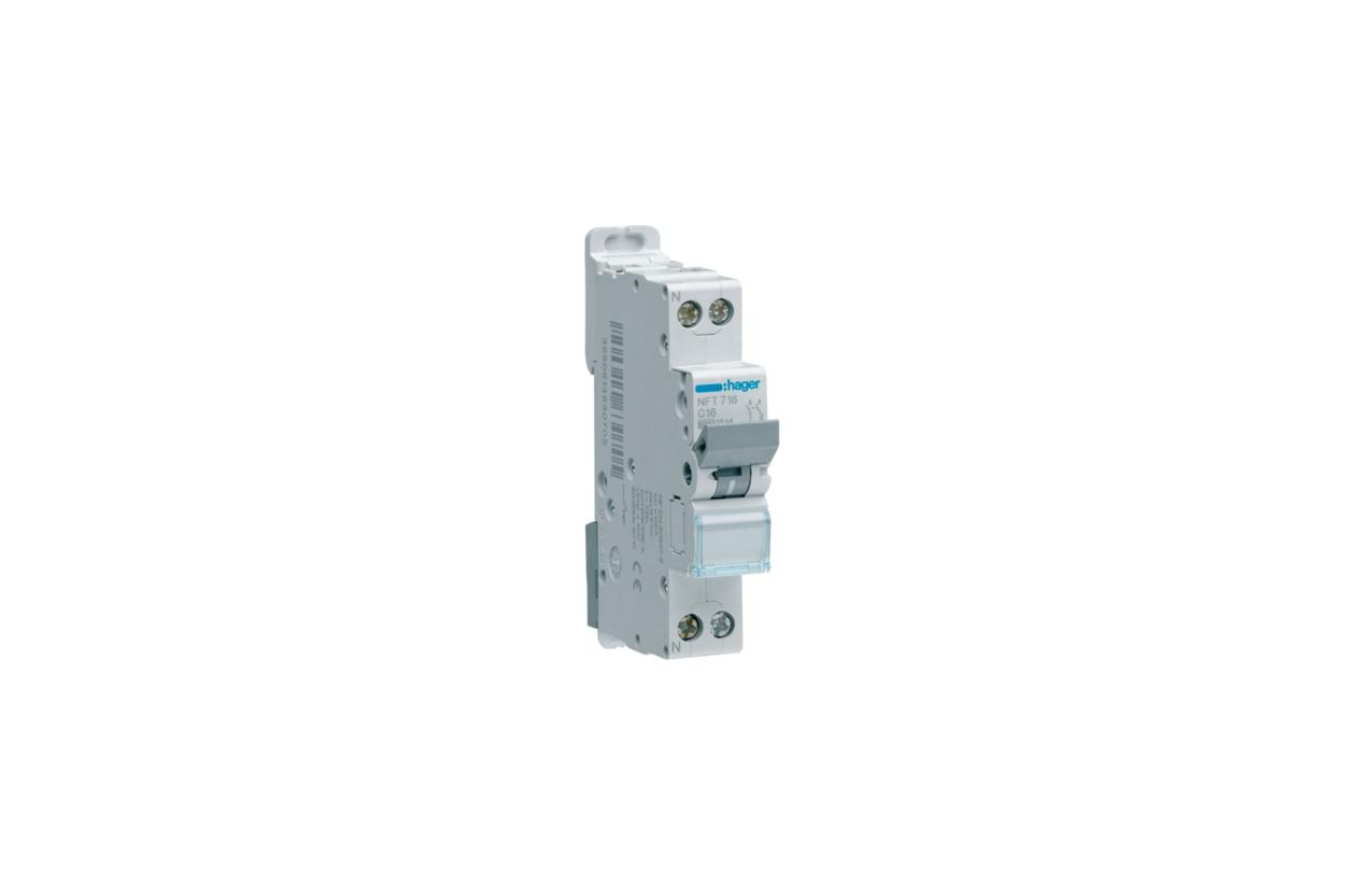 Disjuntor 1P+N 16A C 4.5/6KA 1M MJT716