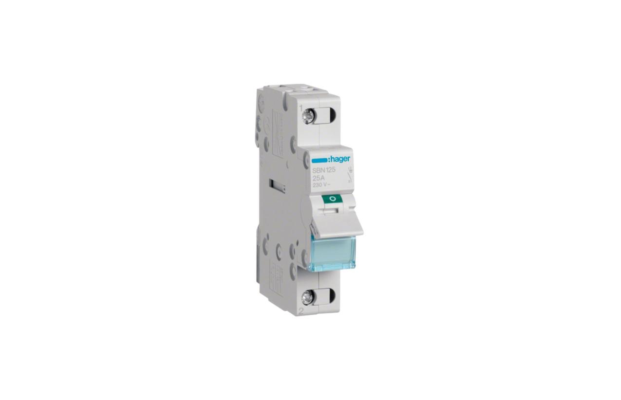Interruptor modular 1P 25A SBN125