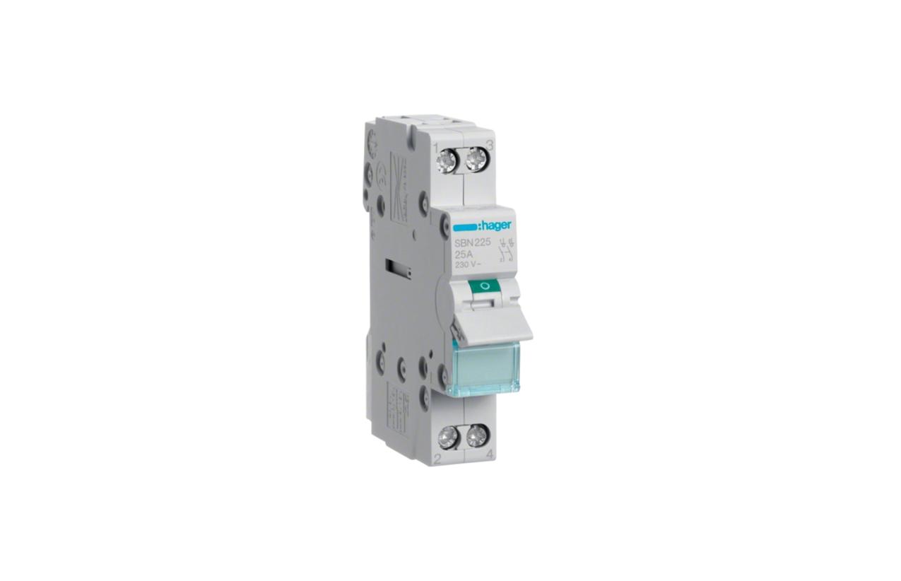 Interruptor modular 2P 25A SBN225