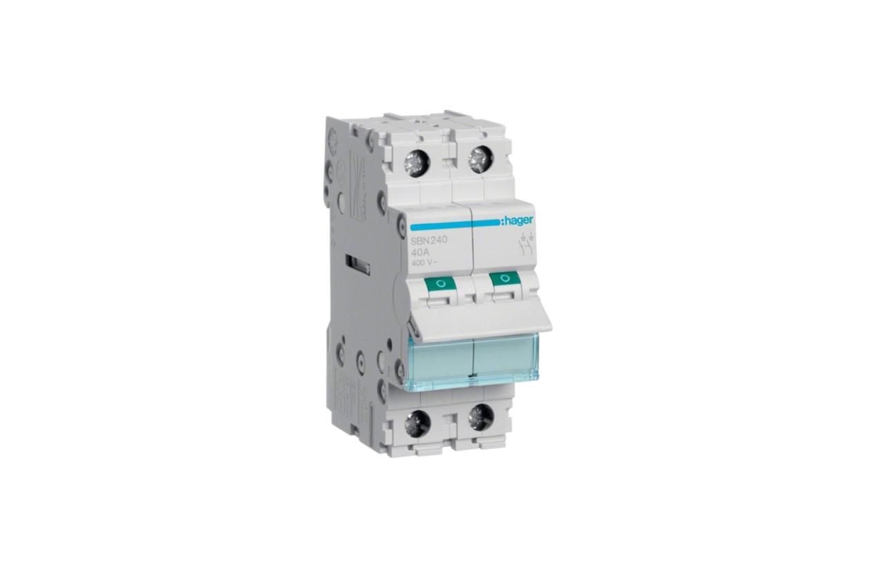 Interruptor modular 2P 40A SBN240