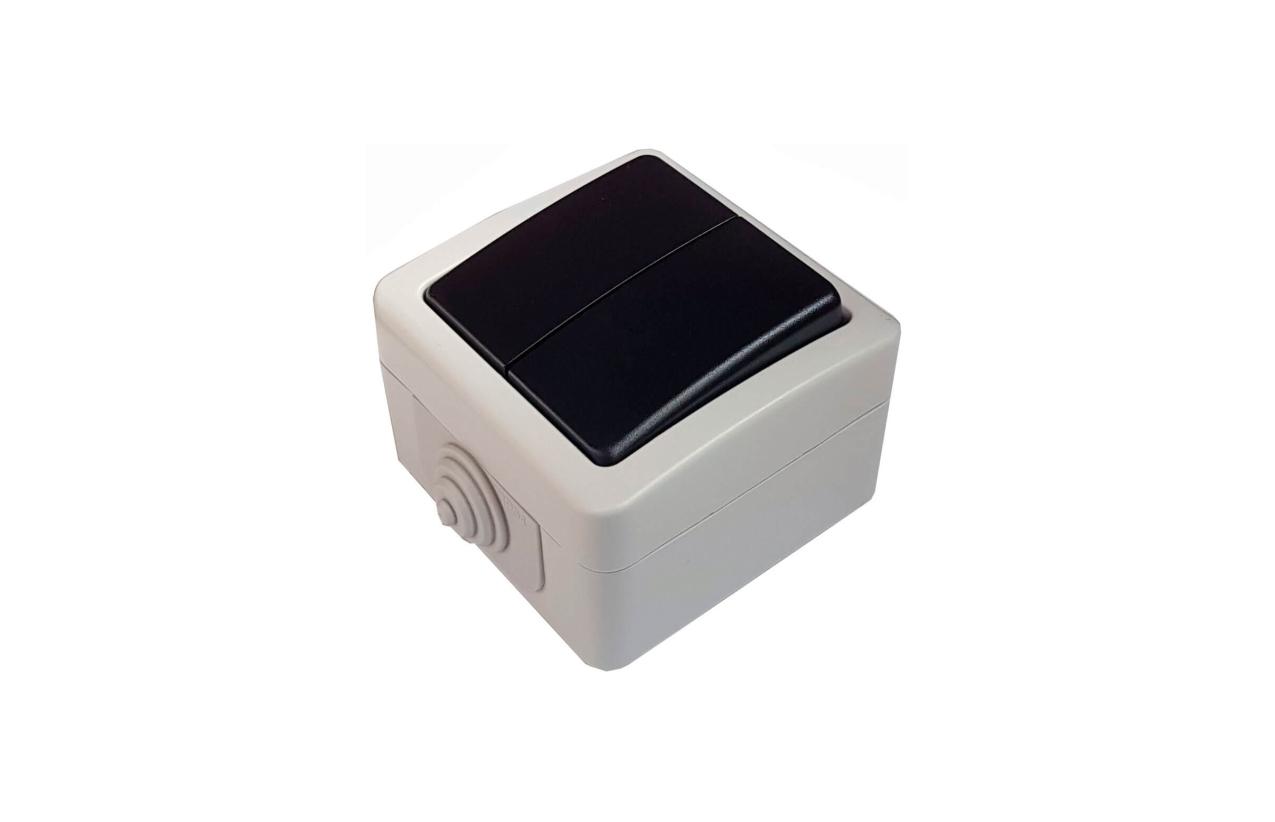 Comutador de lustre quadrado saliente IP54