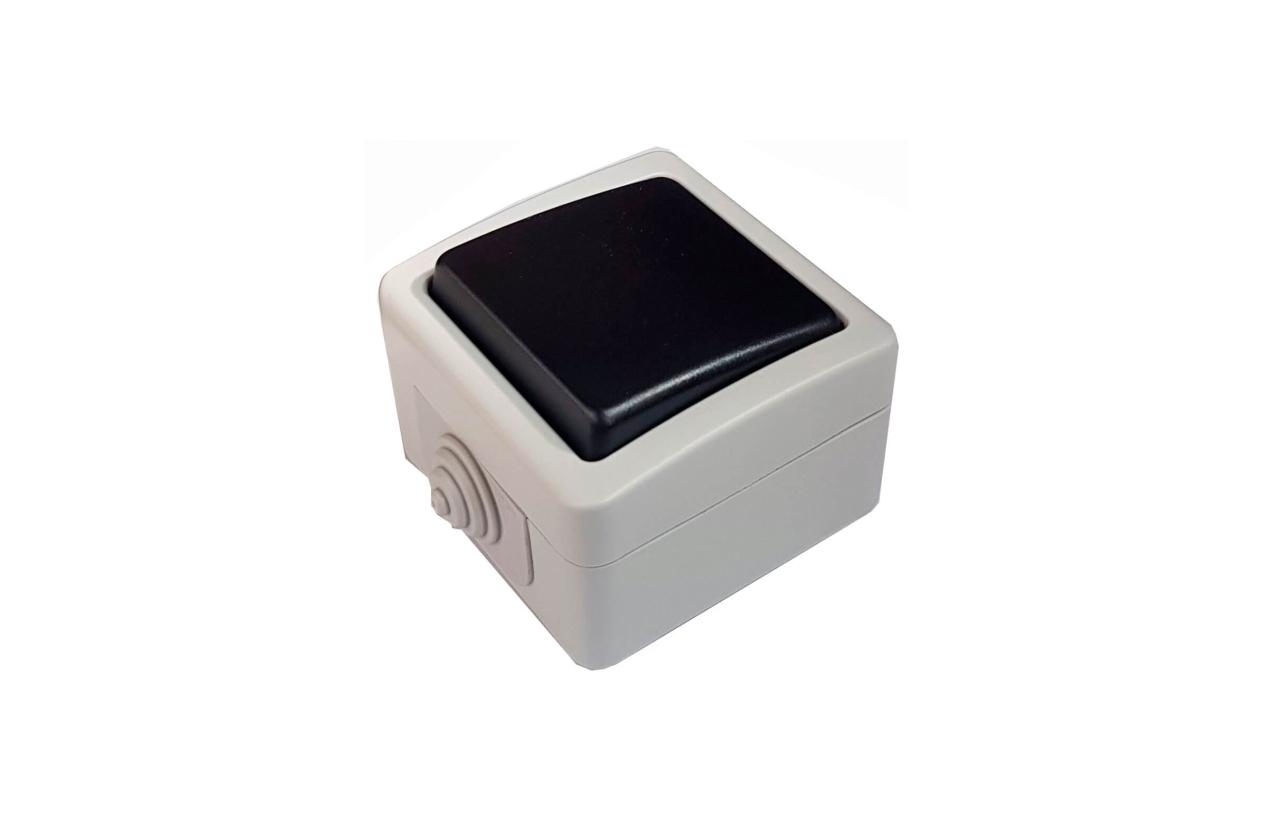 Botão de pressão quadrado saliente IP54