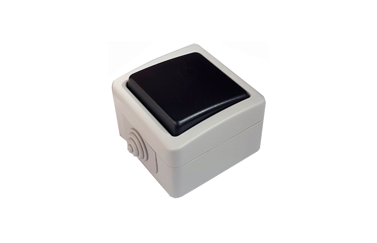 Botão de pressão luminoso quadrado saliente IP54