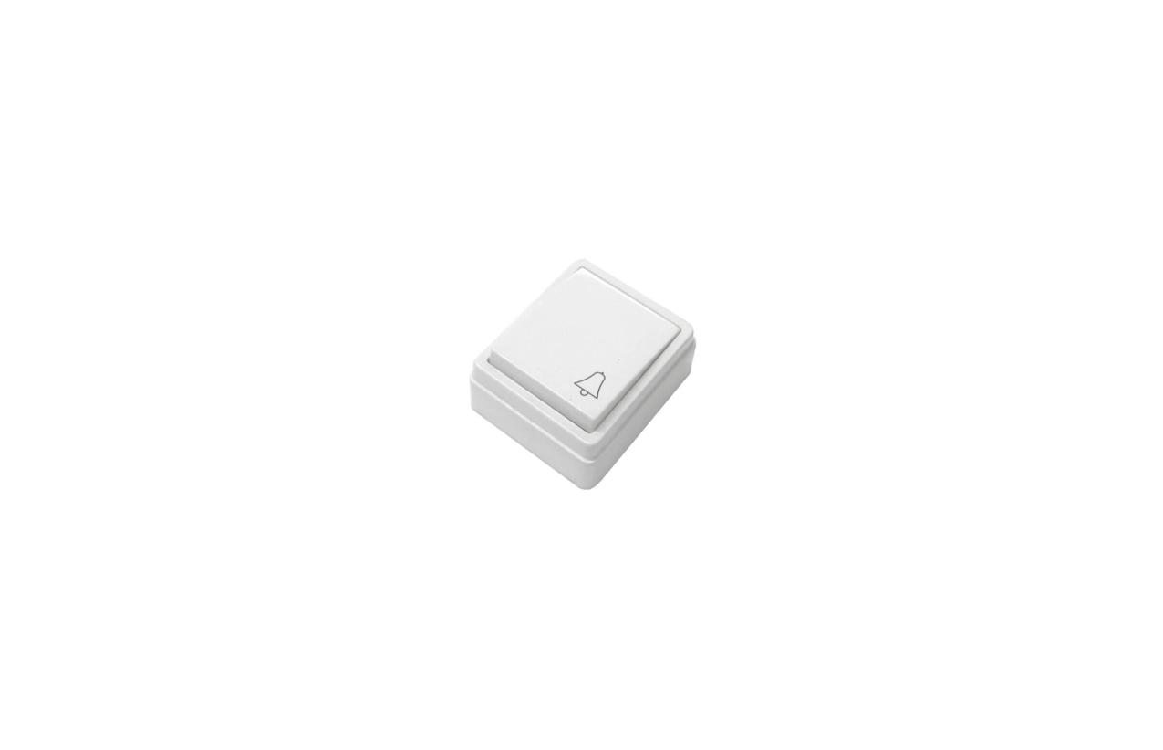Botão de pressão c/ simbolo de campainha quadrado 10/16A - 250