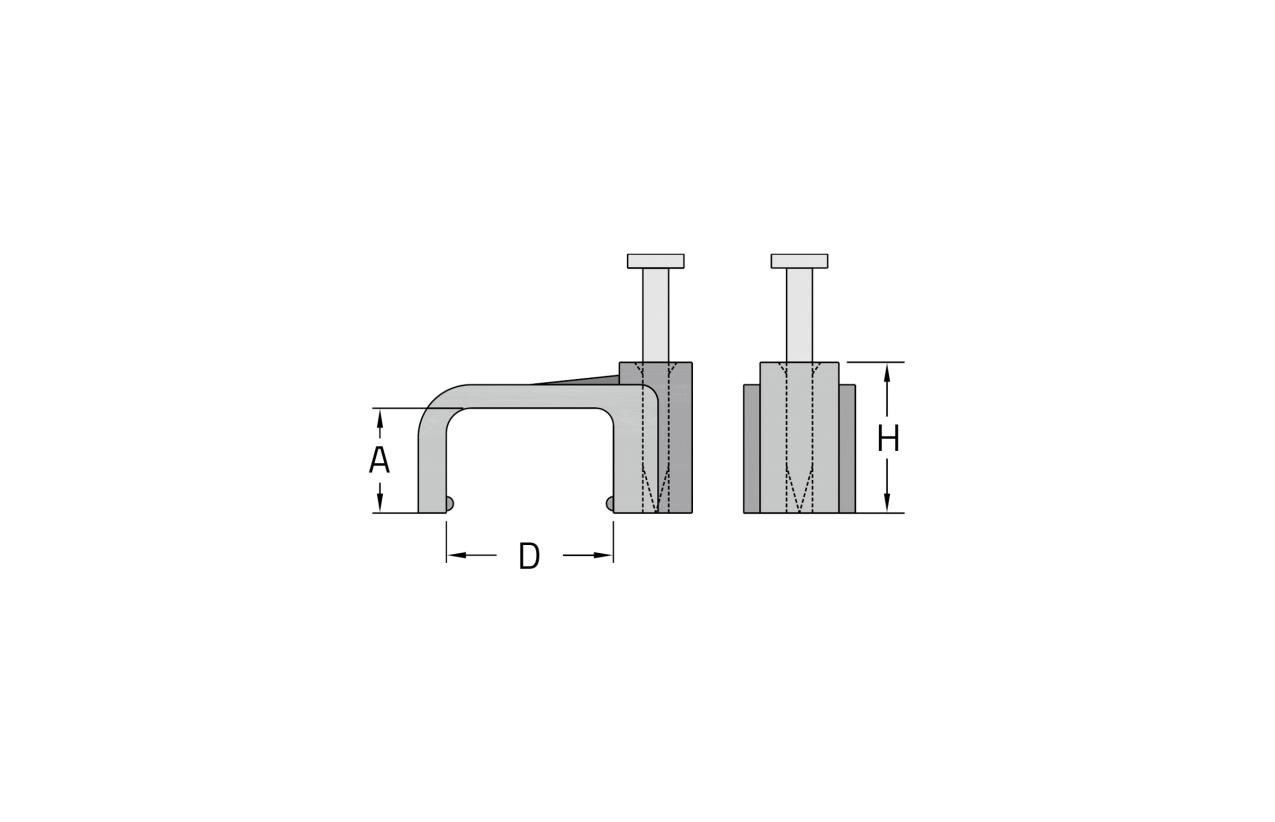 Abraçadeira plana com prego Ø10mm (mínimo 100 unid.)
