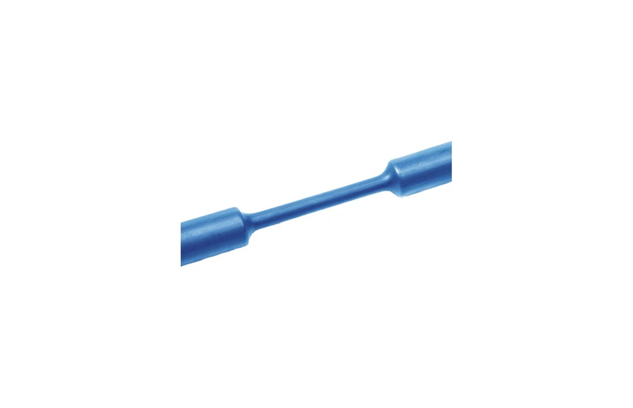 Tubo termoretrátil parede fina azul 9,5-4,8mm