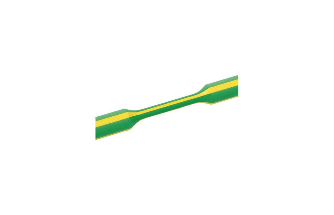 Tubo termoretrátil parede fina verde/amarelo 38,1-19,1mm