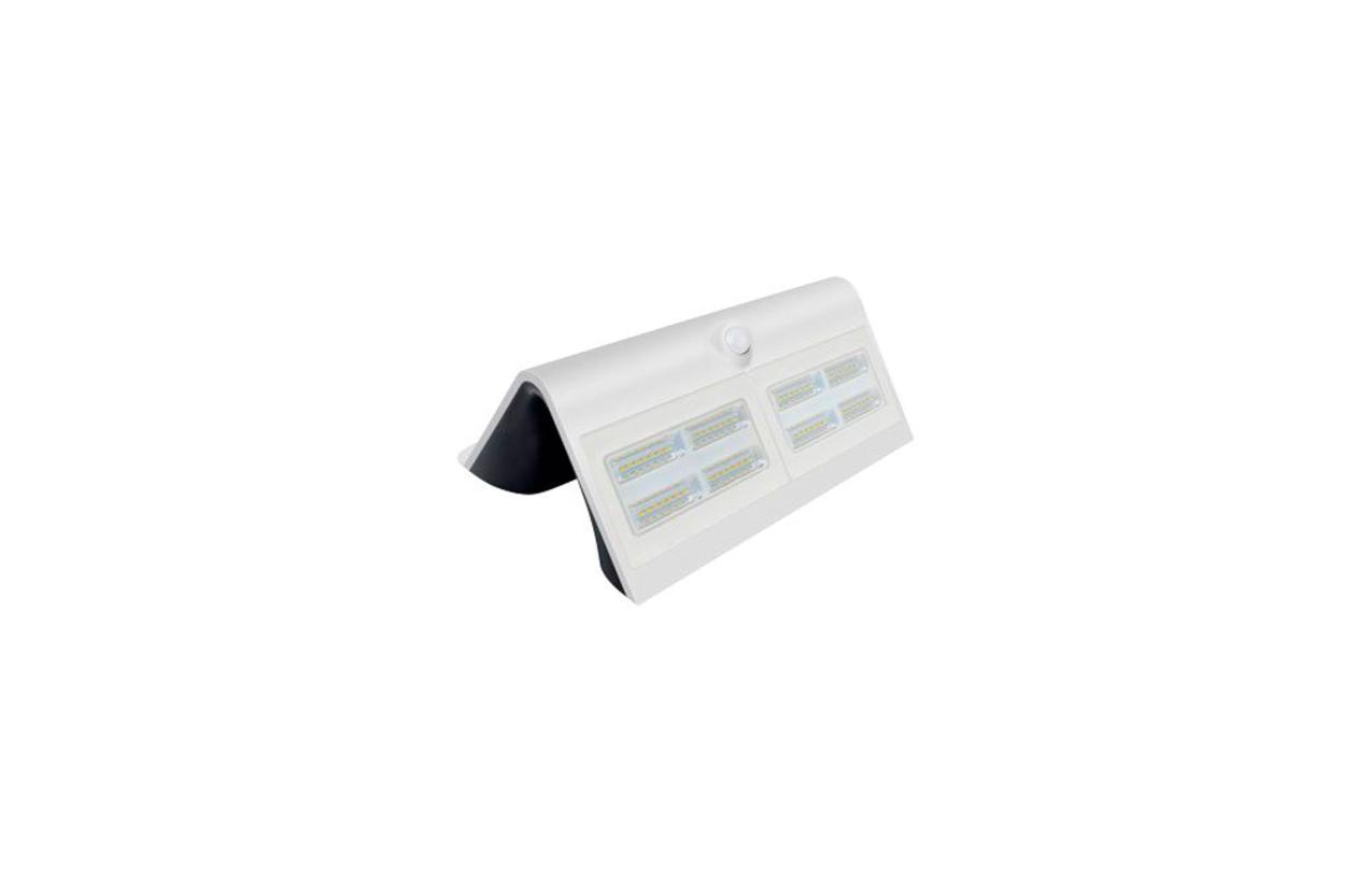 Aplique LED solar IP65 6,8W branco com detetor movimento
