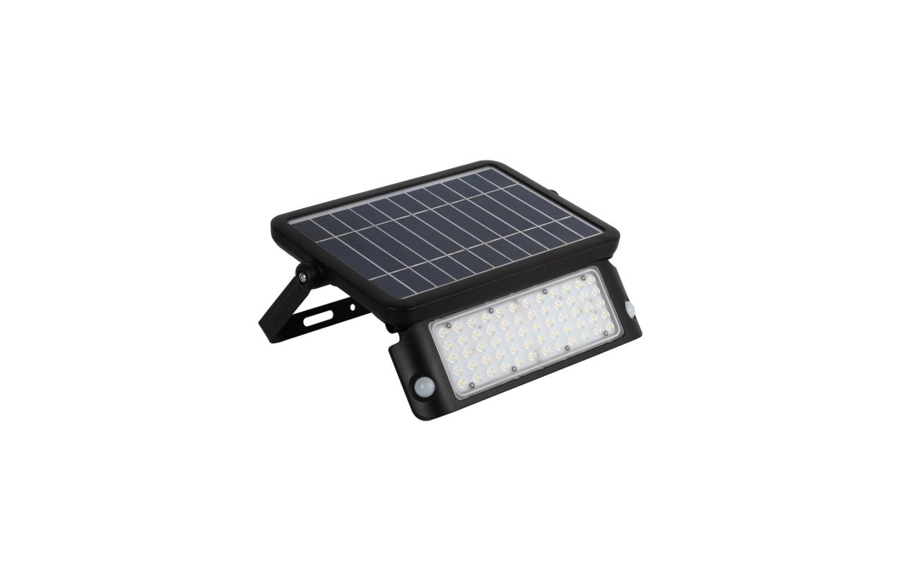 Projetor LED solar IP65 10W preto com detetor movinento