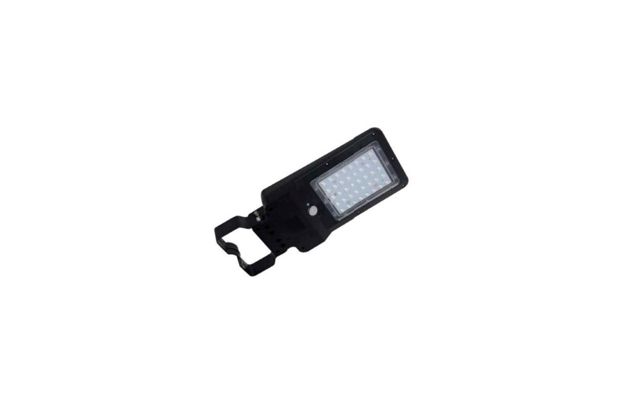 Luminária LED solar 8W IP65 preta com detetor movimento