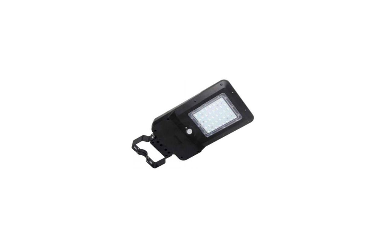 Luminária LED solar 15W IP65 preta com detetor movimento