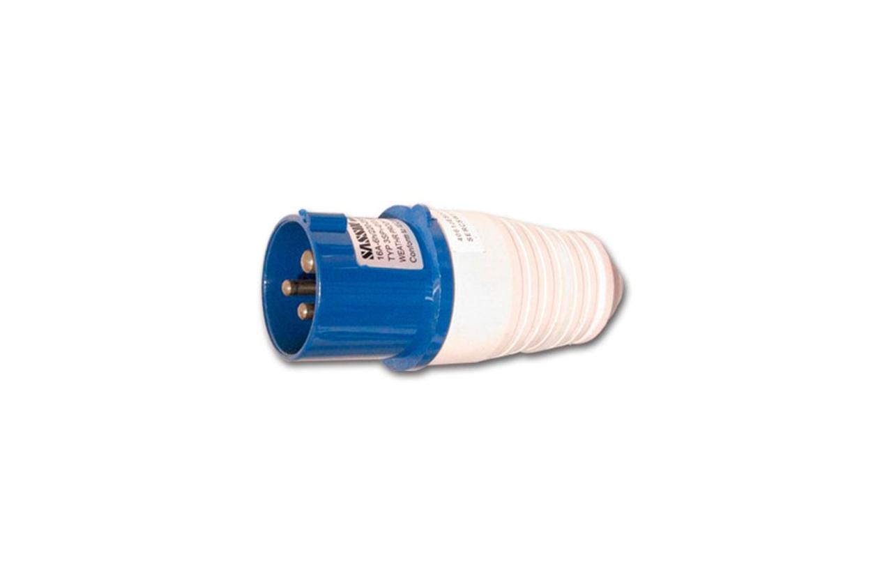 Ficha industrial reta macho IP44 16A 230V 2P+T 3SP1-013