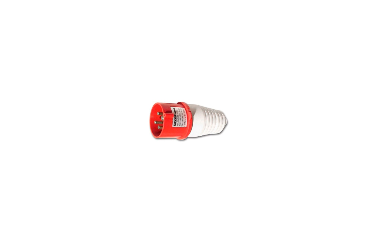 Ficha industrial reta macho IP44 16A 400V 3P+T 3SP1-014