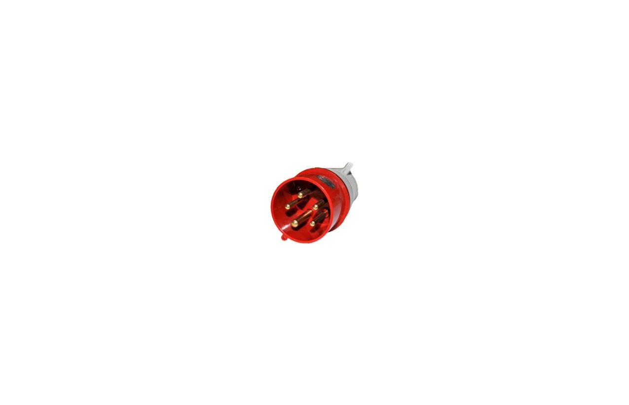 Ficha industrial reta macho IP44 16A 230/400V 3P+N+T 3SP1-015