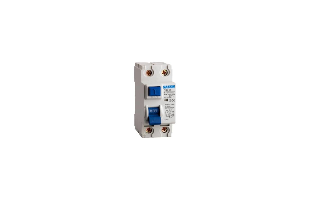 Interruptor diferencial 2P 63A 300mA tipo AC L182C063300