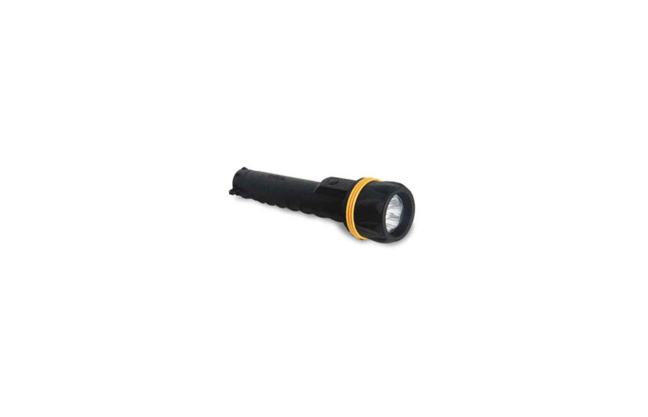 Lanterna LED com revestimento em borracha