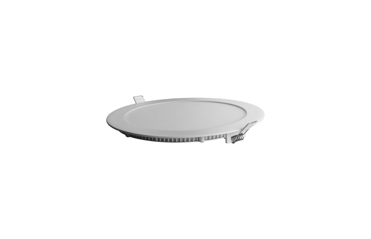 Painel LED redondo 12W 6400K (branco frio)