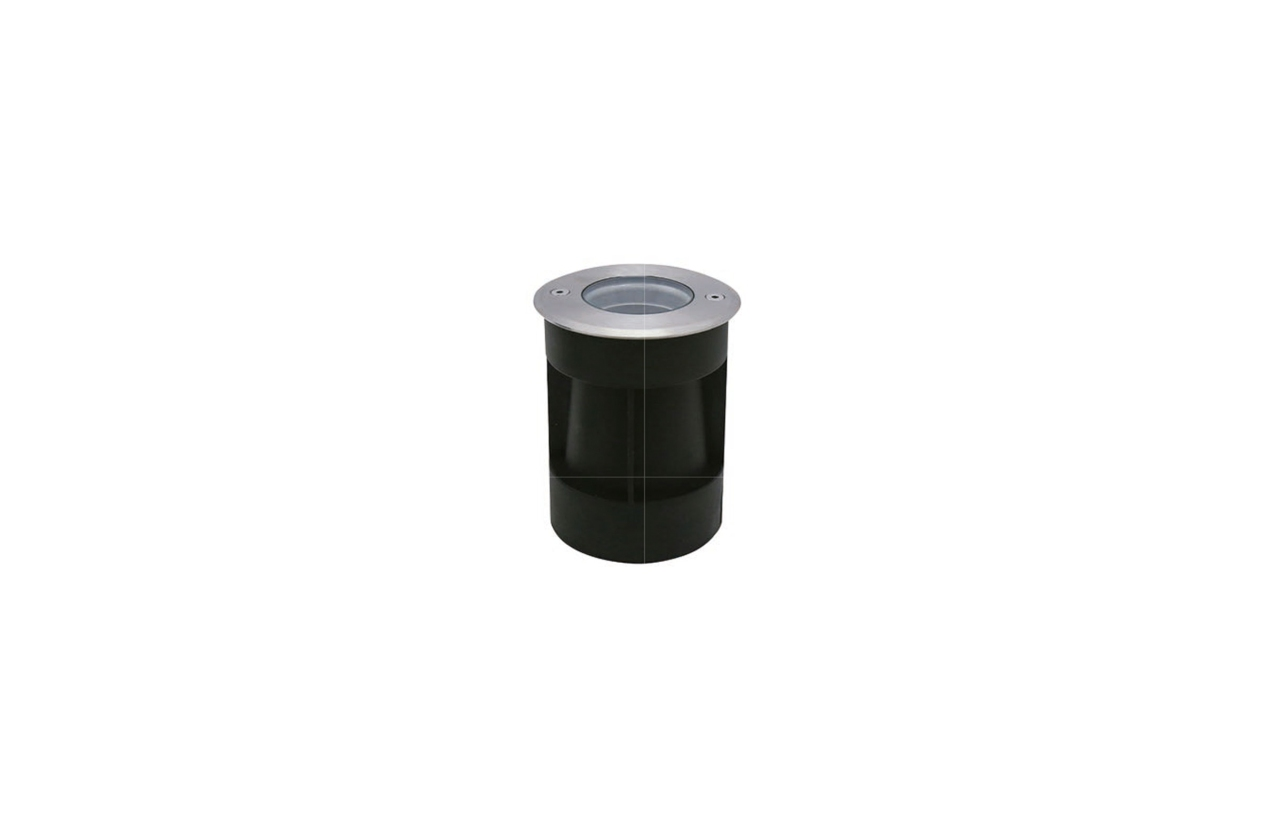 Projetor de chão BORRALHA redondo IP67 GU10 aro inox