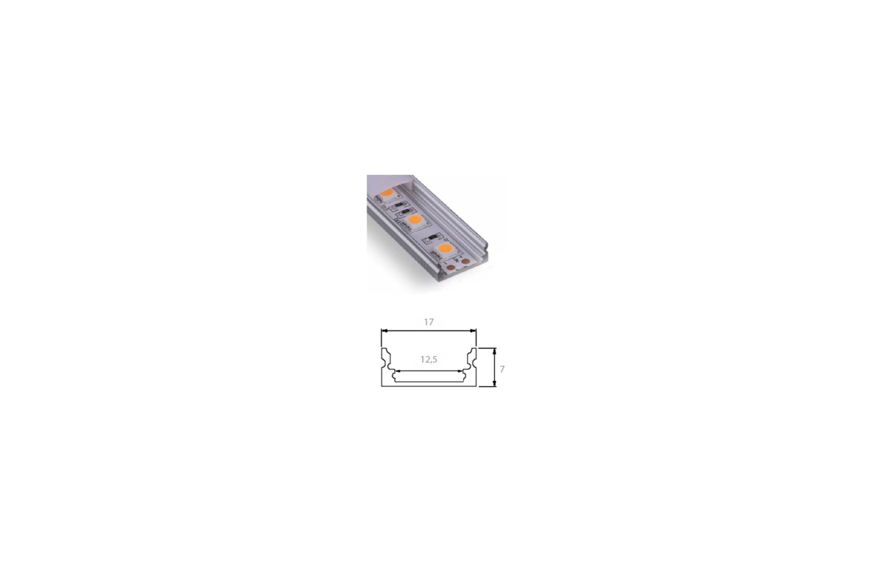 Perfil de alumínio saliente para fita LED
