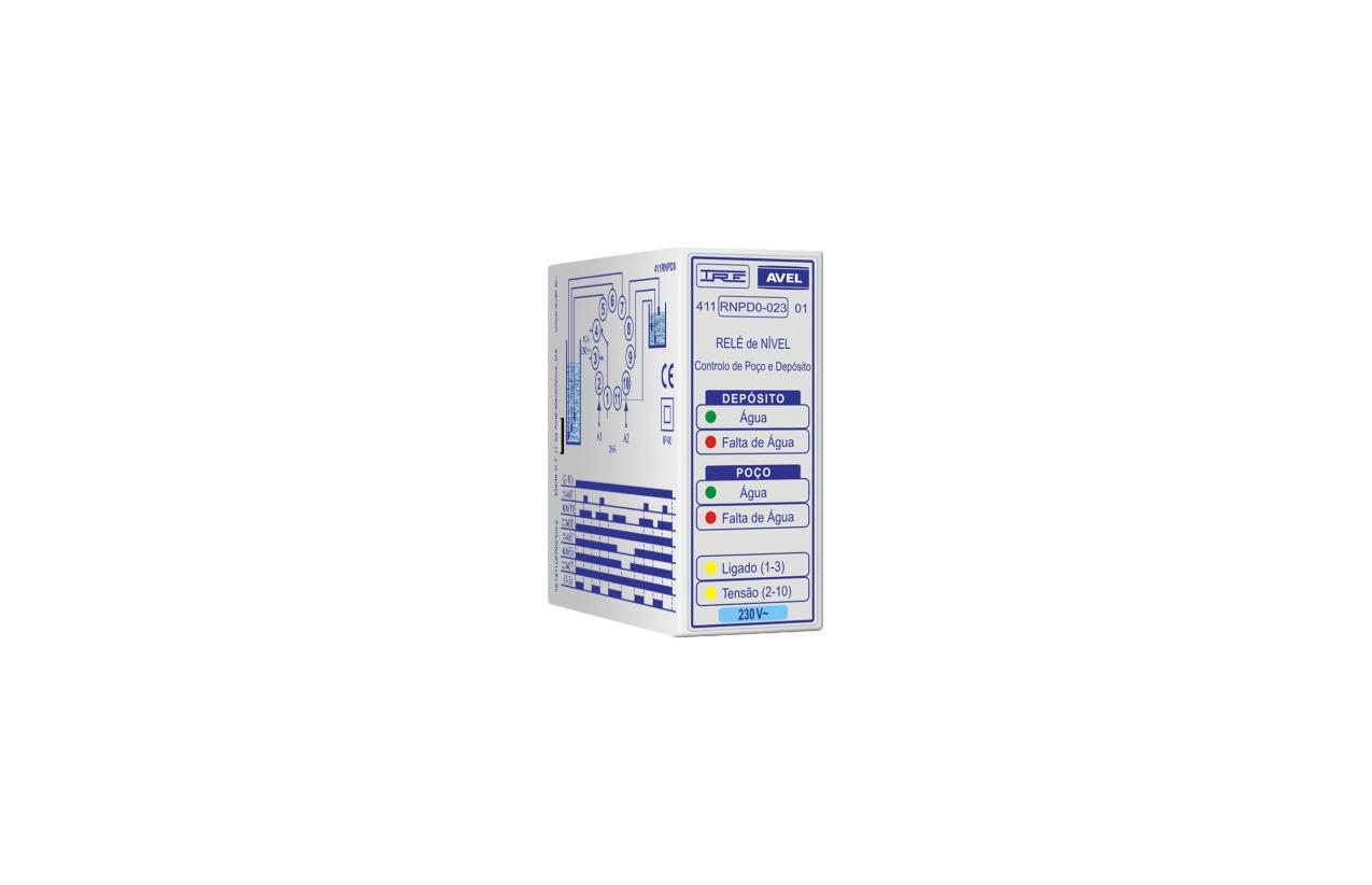 Relé de nível controlo de poço e depósito 230Vac 411RNPD0023