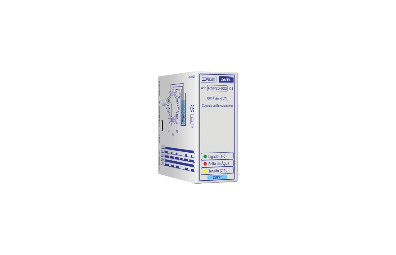 Relé de nível controlo de esvaziamento 400Vac 411RNP20040