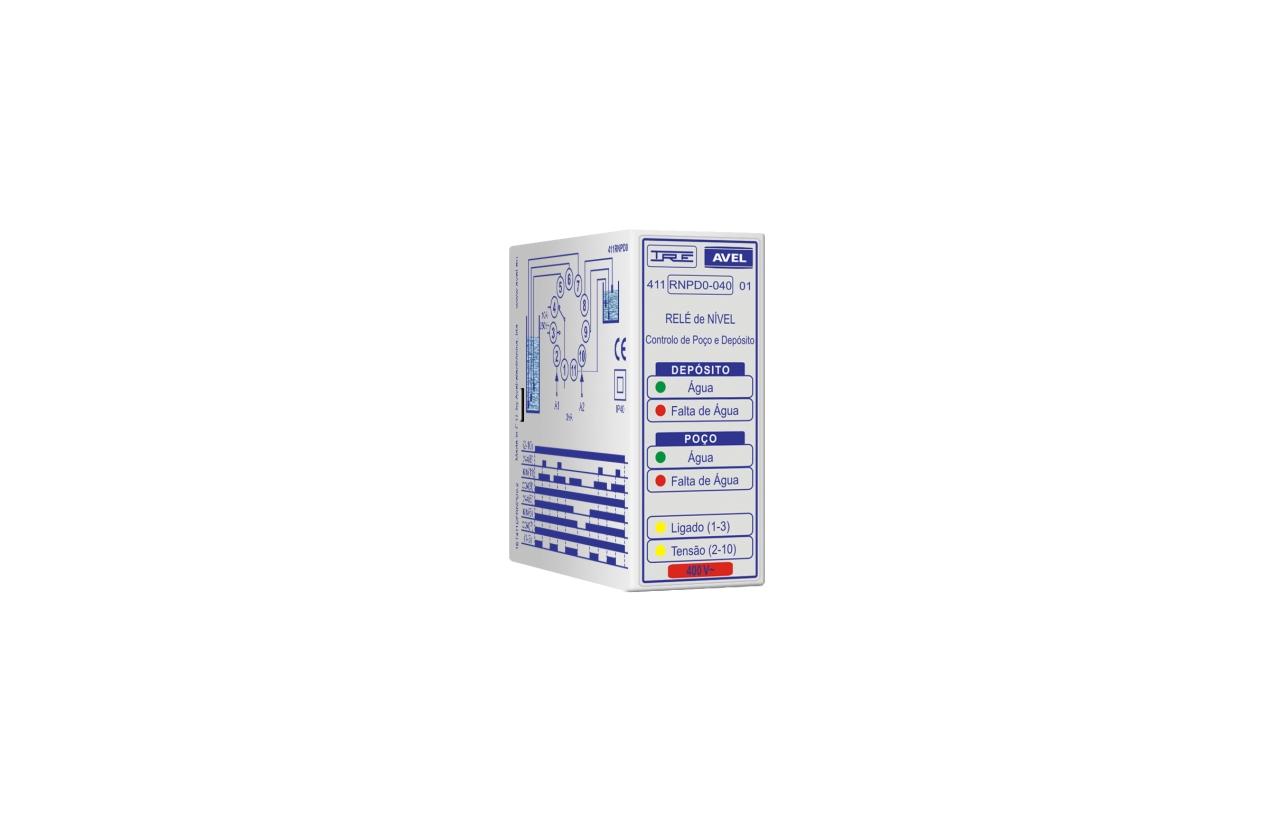 Relé de nível controlo de poço e depósito 400Vac 411RNPD0040