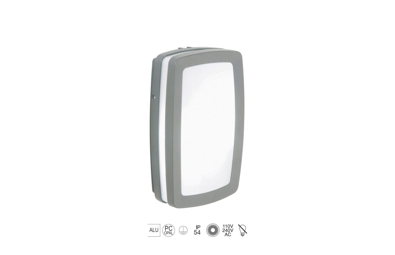 Plafonier KIRA IP54 cinza 169A-G05X1A-03