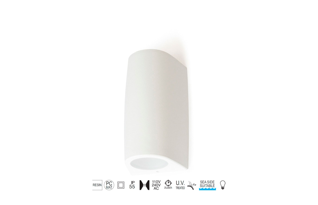 Aplique ESTEL IP55 branco 793A-G21X1A-01