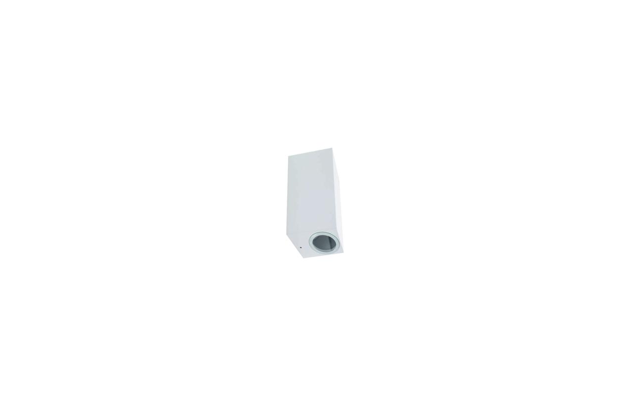 Aplique retangular IP54 2xGU10 branco