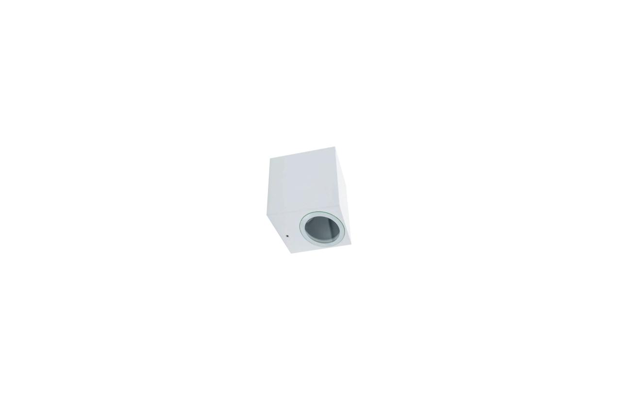 Aplique quadrado IP54 GU10 branco