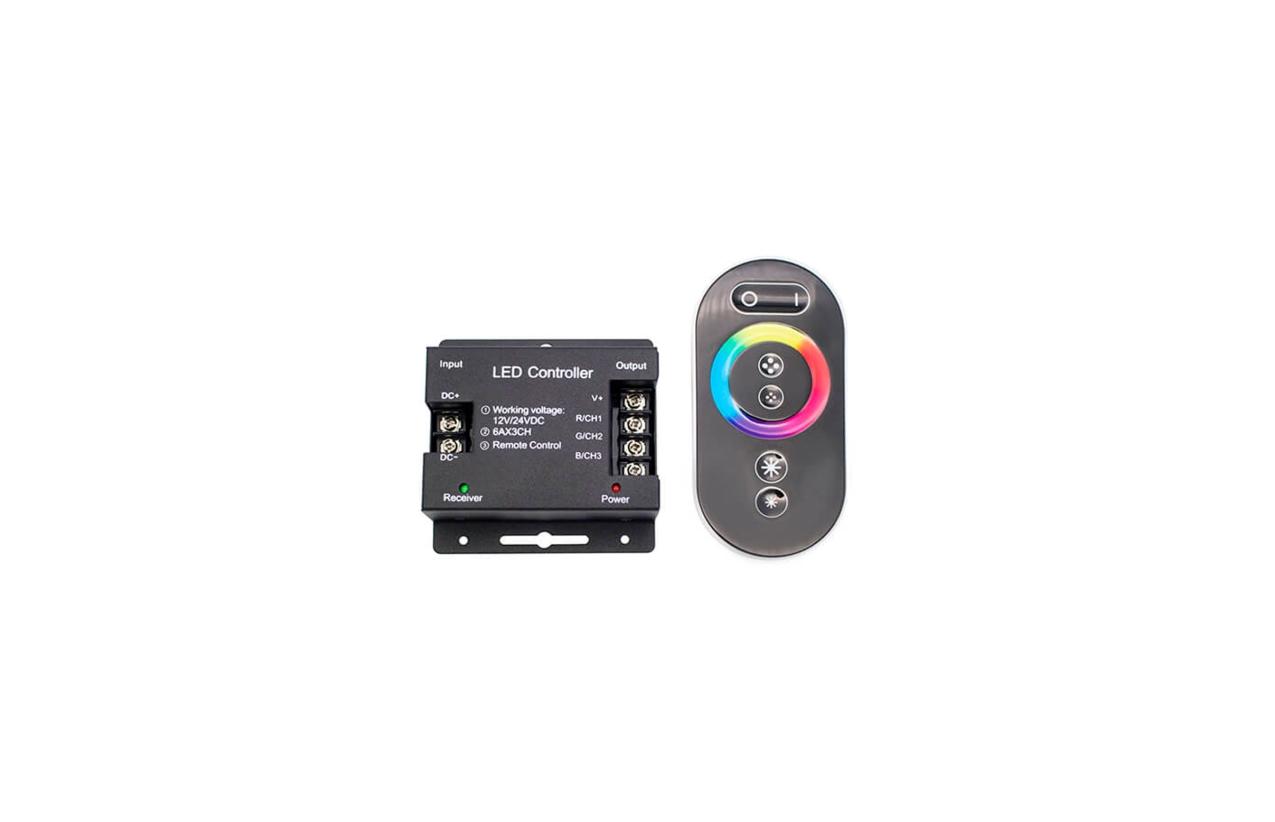 Controlador tátil RGB 12V/24V 216W/432W