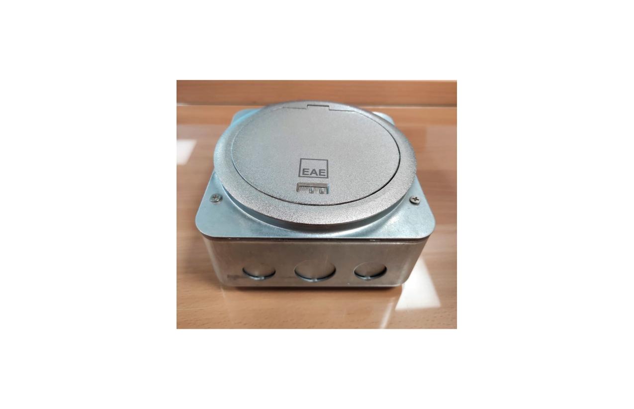 Caixa de chão estanque IP66 com suporte e tampa 1022597